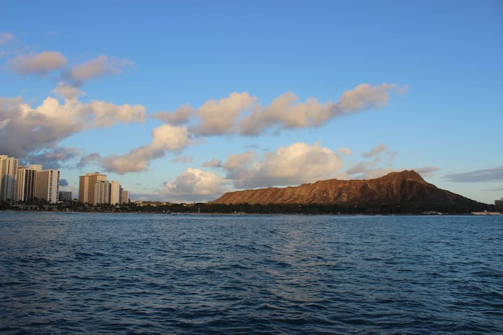Diamond Head view Waikiki