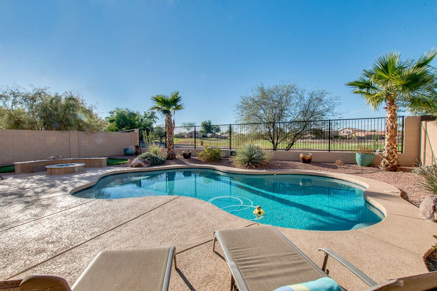 Sparkling Heated Pool with Golf Views.