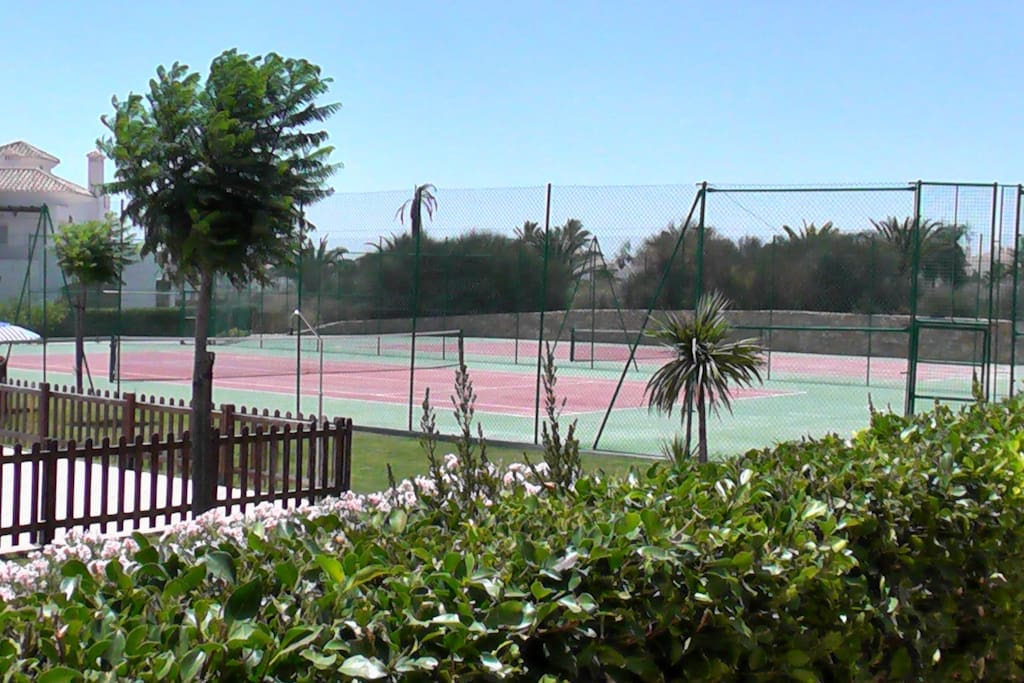Two Tennis Courts 20 meters from your back door