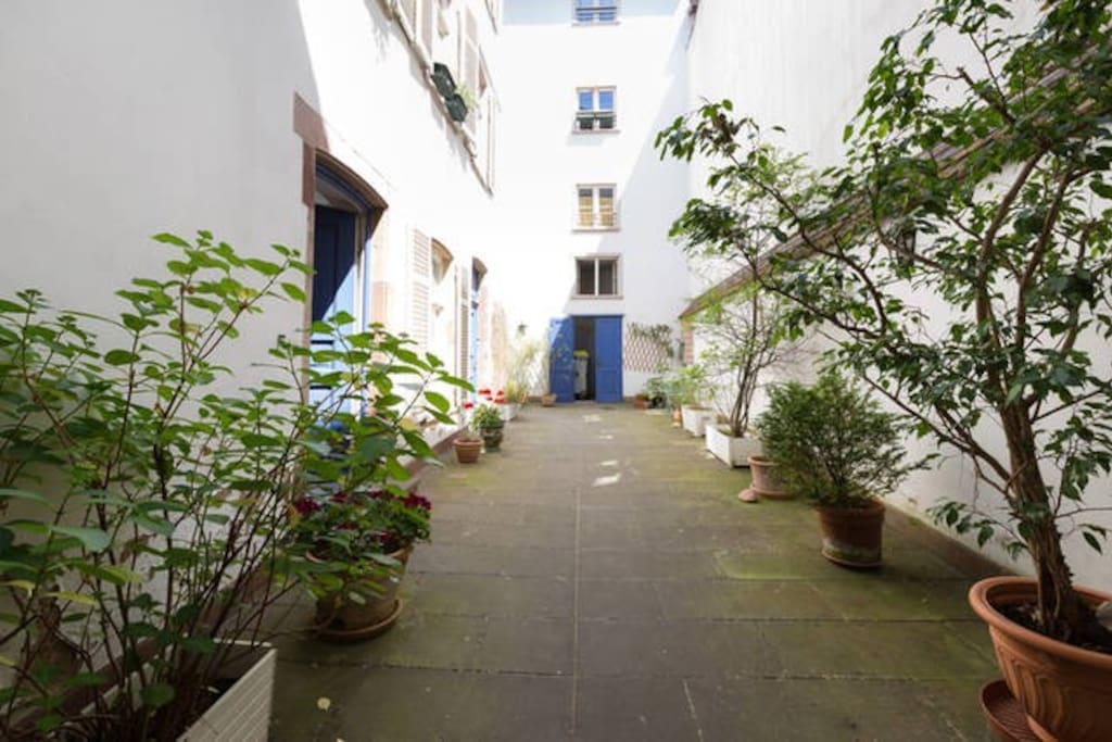 La cour de l'immeuble - Courtyard of the building.