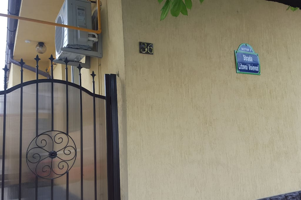 The front door. Keep it in mind to reach the right address ;)
