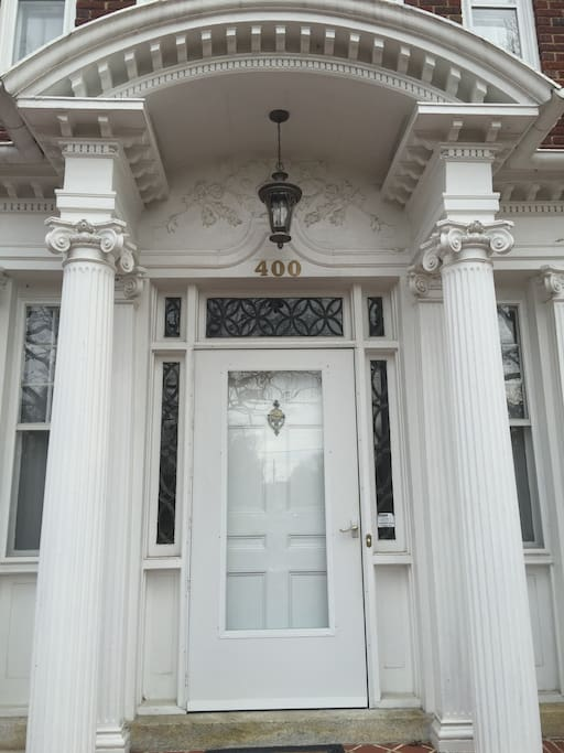 ... to the imposing front door, we welcome you to our home