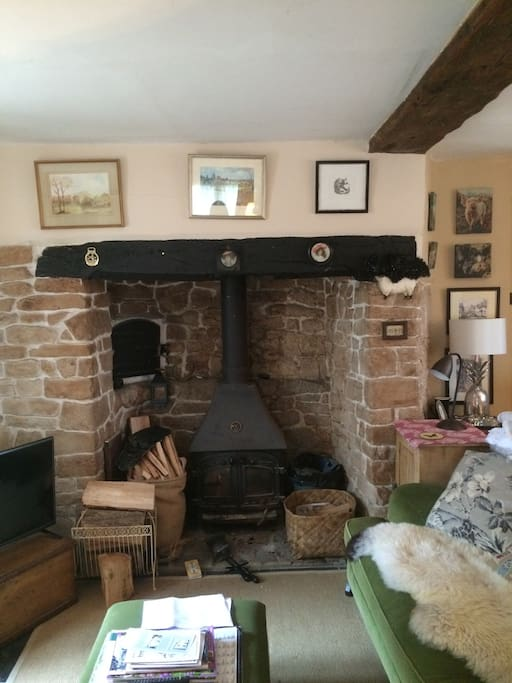 Wood burning stove for cosy winter nights