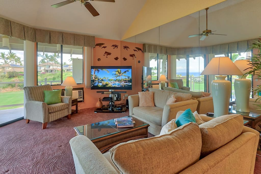 Ocean view from all shared living areas