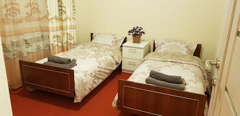 New guest house 2 bedrooms. Security parking