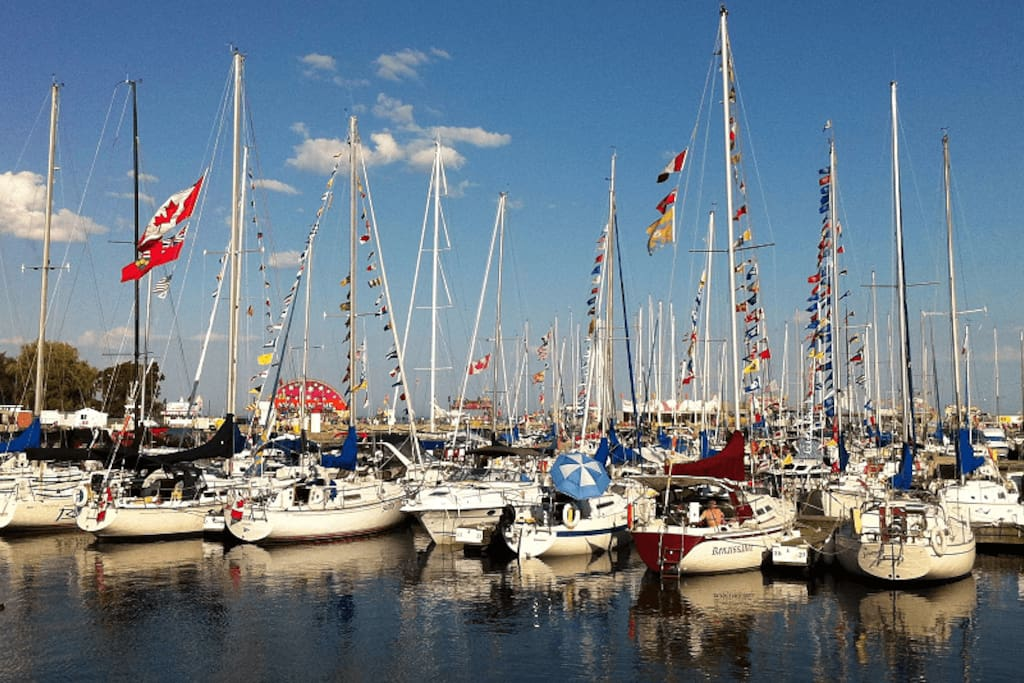 Watch the beautiful Cobourg Harbour from your private balcony