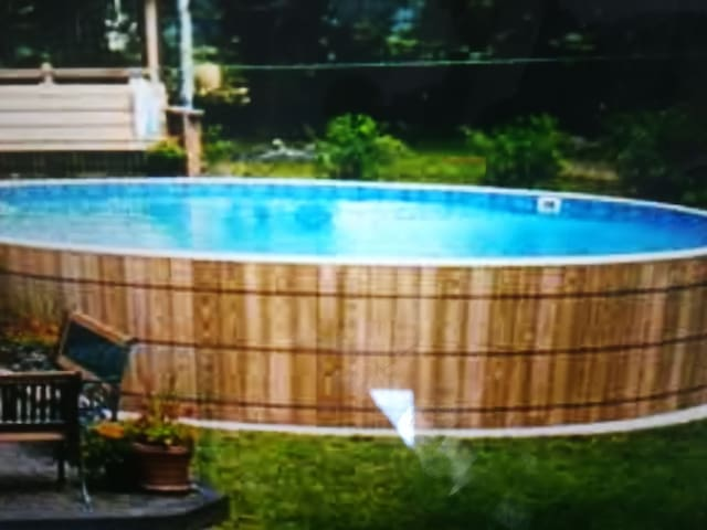 The really cold swimming pool