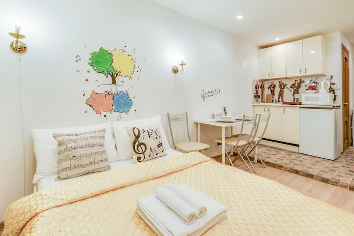 Апартаменты с авторским дизайном и домашним уютом