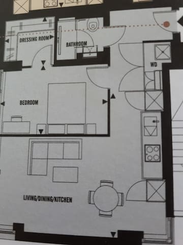 Layout of the luxury apartment