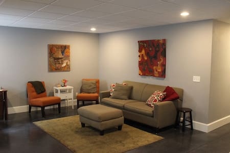 Basement suite in craftsman style home