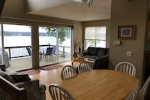 Large lake-front house in a beautiful little town