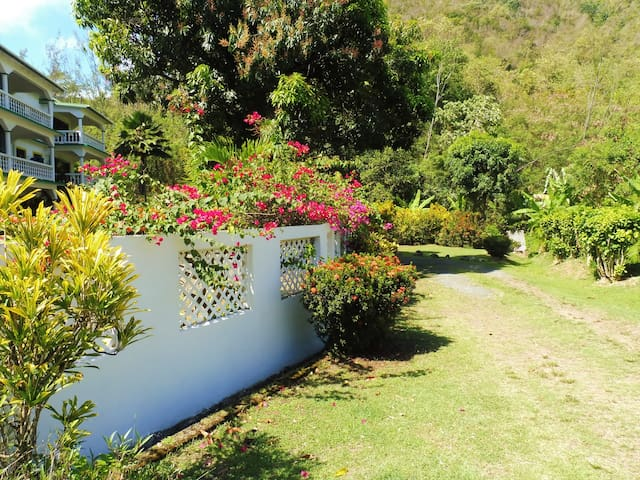 Front Gate with beautiful flowers