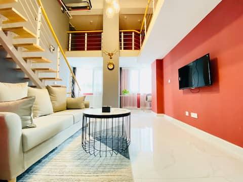 高新区/loft公寓/干净简洁舒适大床房