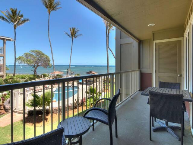 Surf's Up! Super View+Kitchen Perks, Lanai, WiFi, Comfy Den–Kauai Kailani K205