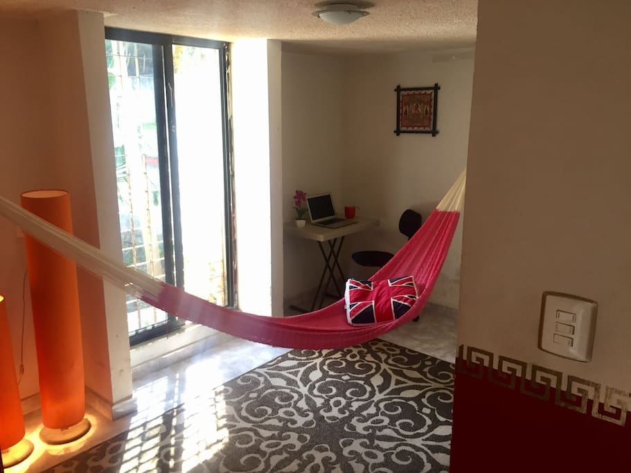 Private hammock with view, first floor. Fan available.