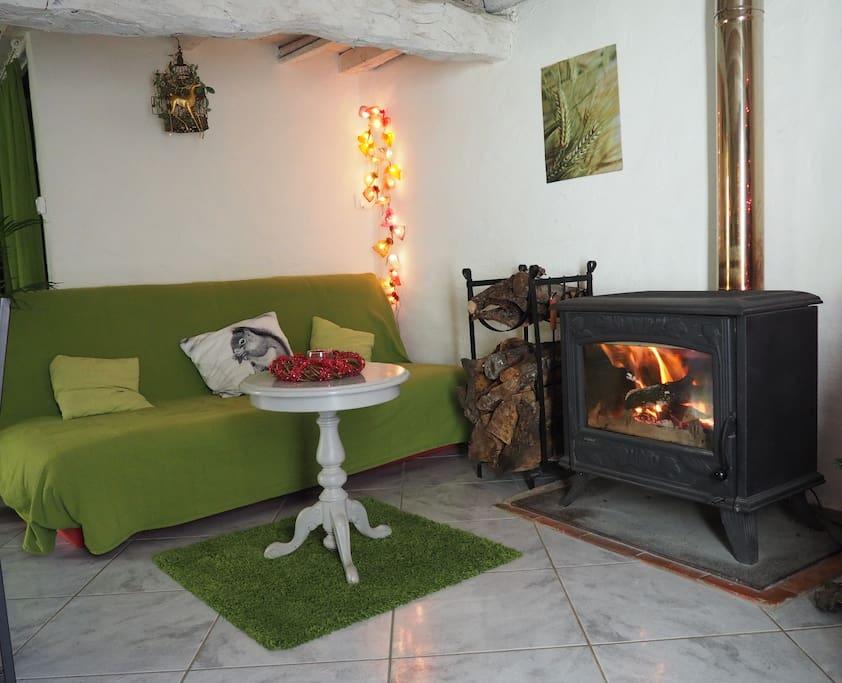 Salon cosy pour vos soirées au coin du feu