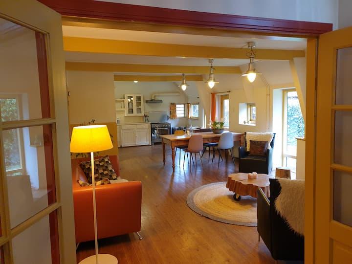 Ruim appartement in Drenthe, midden in de natuur!