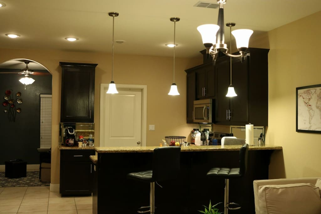 View of Kitchen and Common Area.