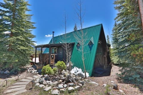 Spectacular Views - Cozy A Frame Cabin Grand Lake
