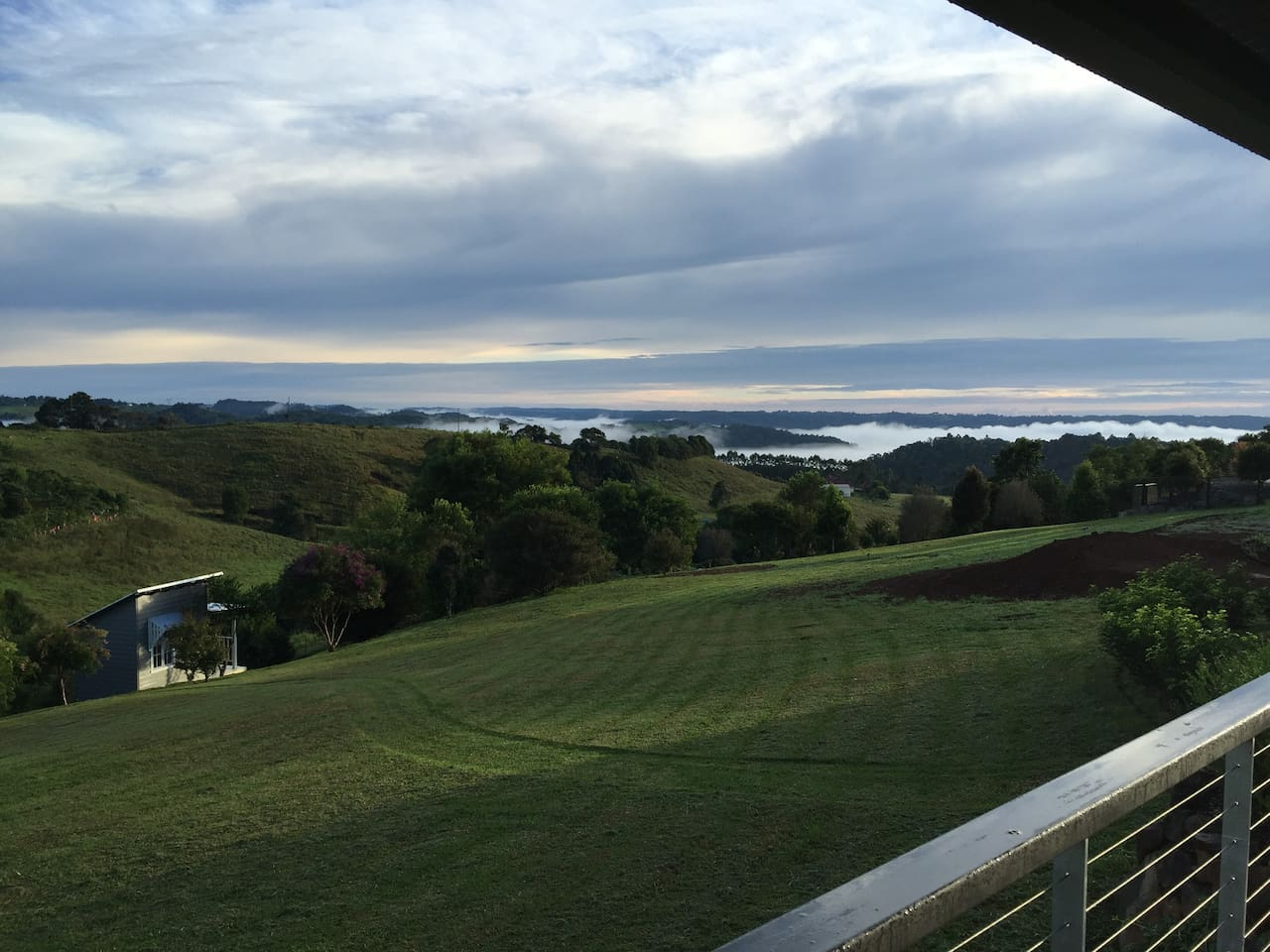 This is the view from your verandah in the morning.