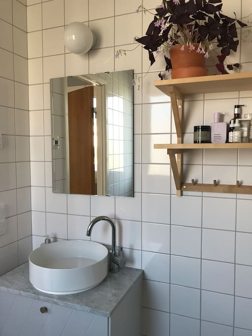 Newly renovated bathroom with shower