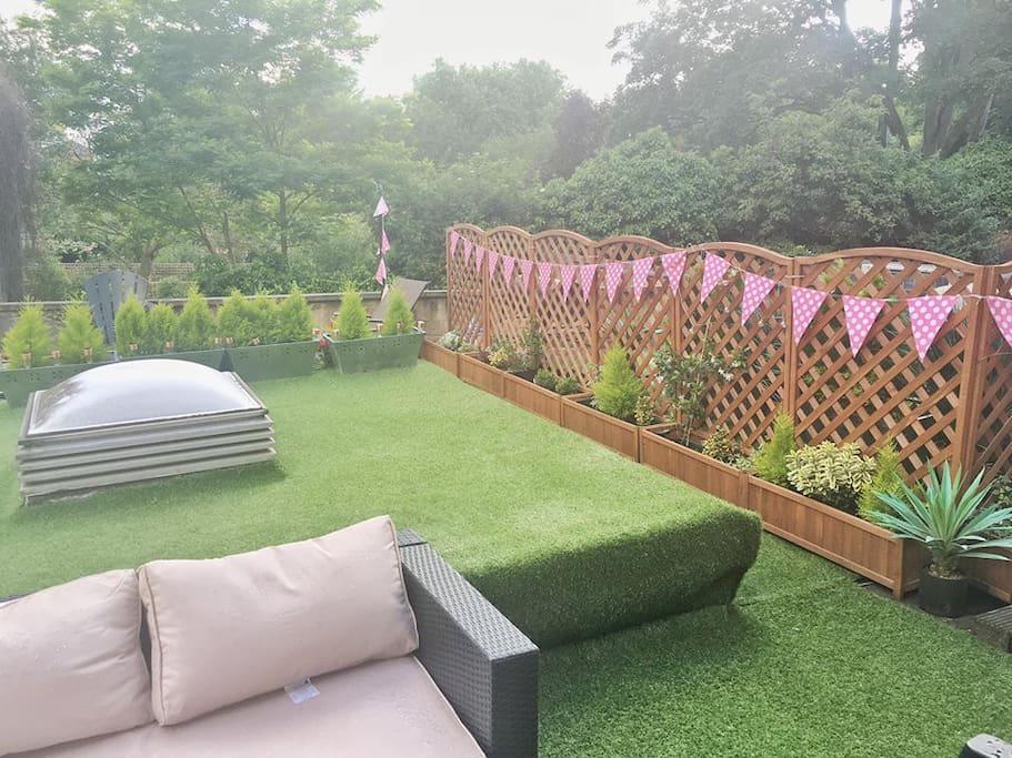 Renovated garden featuring L shape sofa (south facing terrace)