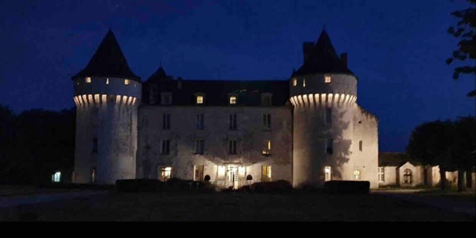 Château de Marcay chambre supérieur , petit déj