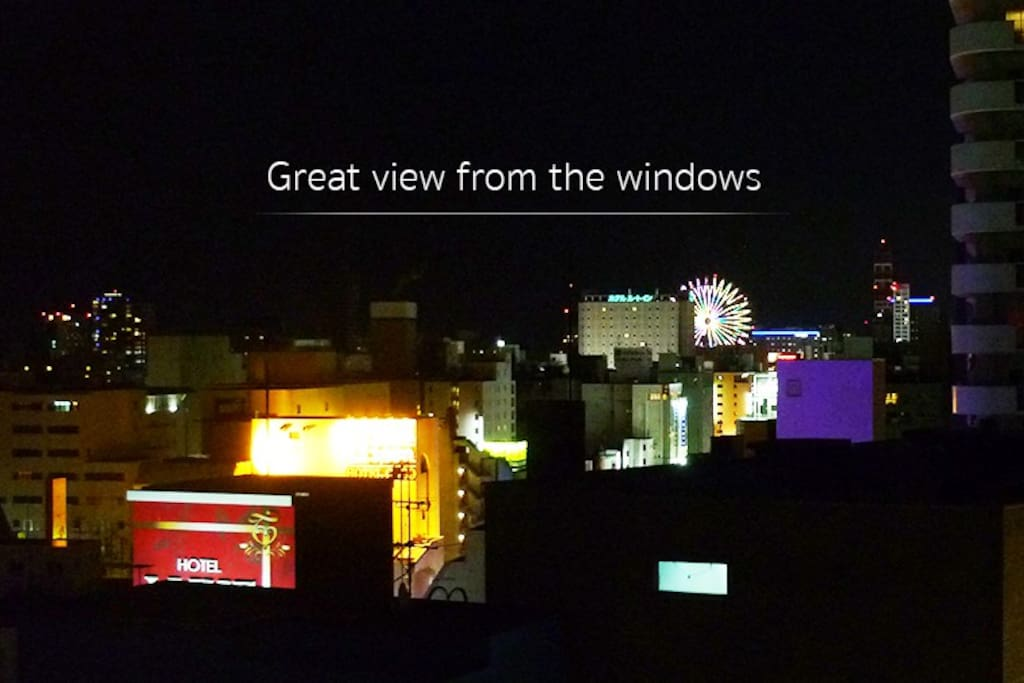 Great view from windows - night time