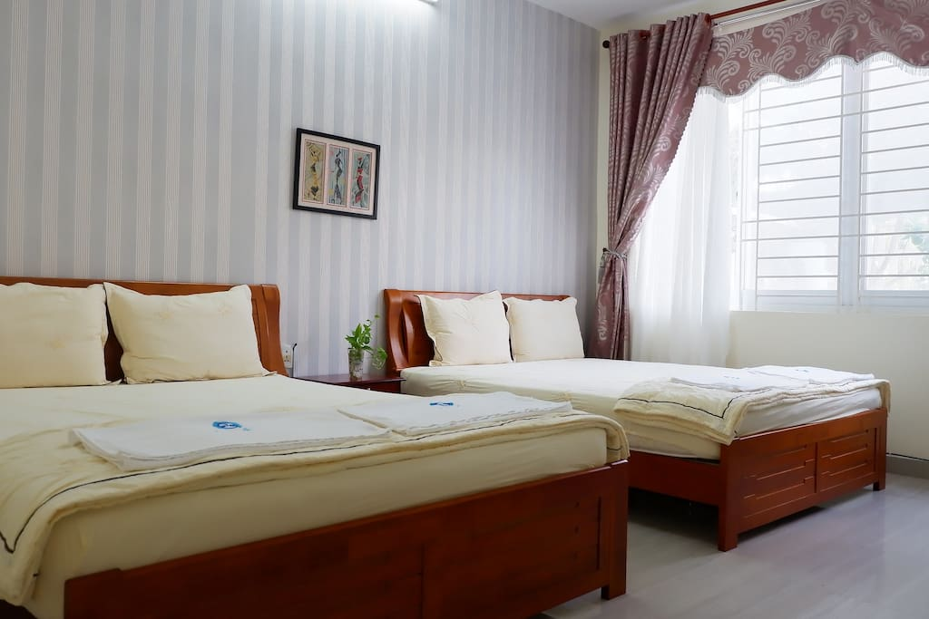 Vũng Tàu Villa Ali 11- Private room with 2 comfortable beds for great night's sleep