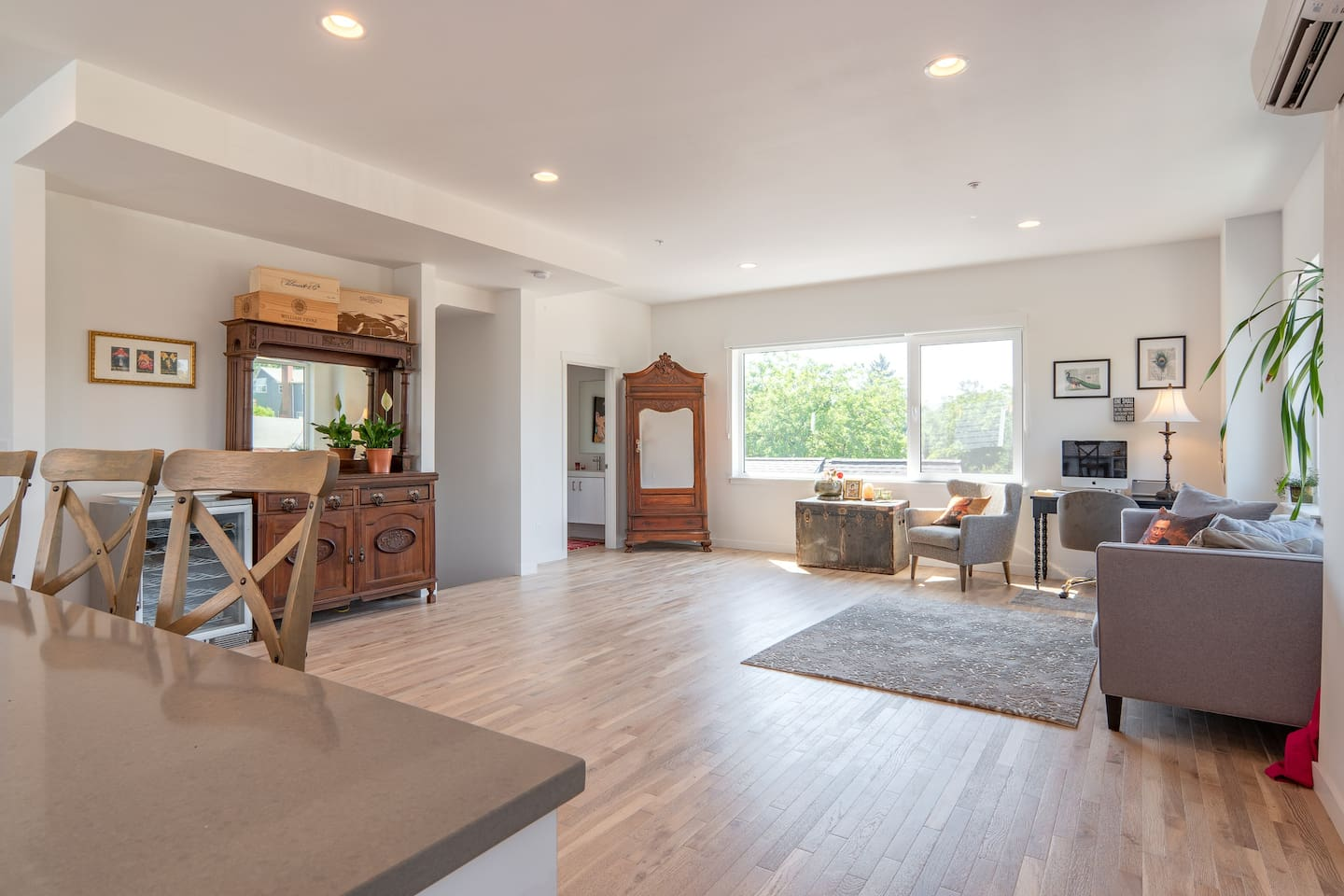 Third floor great room with views and ample room for yoga or dancing