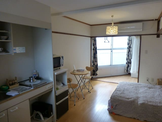 Apartment near Kamogawa river (bed) - 京都市 - Leilighet