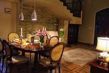 dining table in the living room