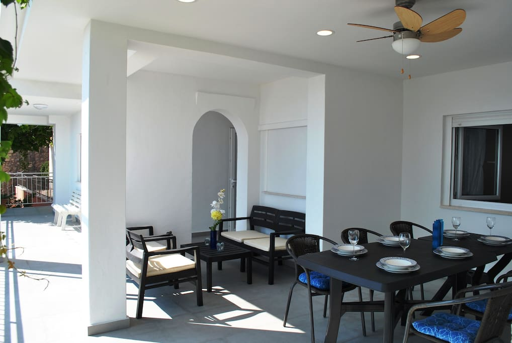 Large terrace for dining and relaxing