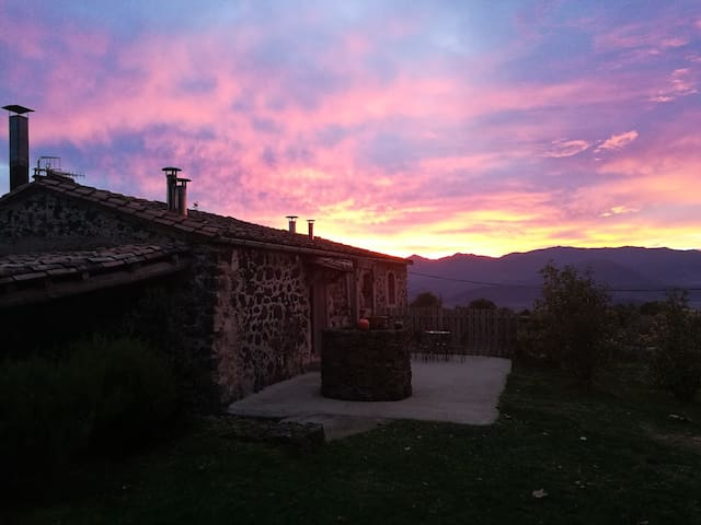 Cabaña con las mejores puestas de sol