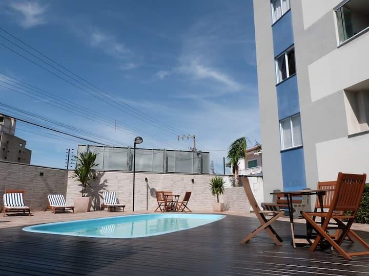 Aproveite Vista Mar, apt Penha EasyClub piscina 5