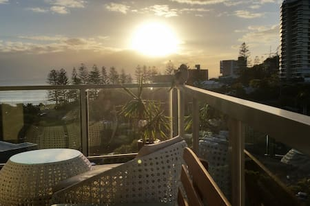 Ocean views at Burleigh Heads