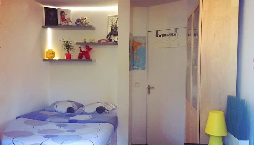 Beautiful room in a nice appartment with park view - Paris-14E-Arrondissement - Flat