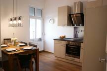 Küche mit Esstsich (12 m²)