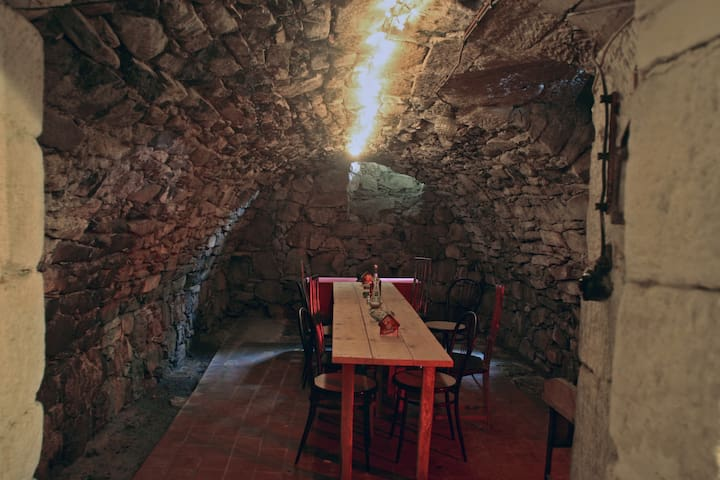 Cellar with seating