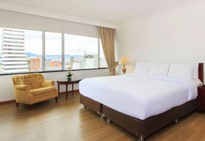 Rooms in the city center with city views