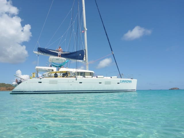 Sail LIAHONA, a Lagoon 500 Catamaran incl Captain