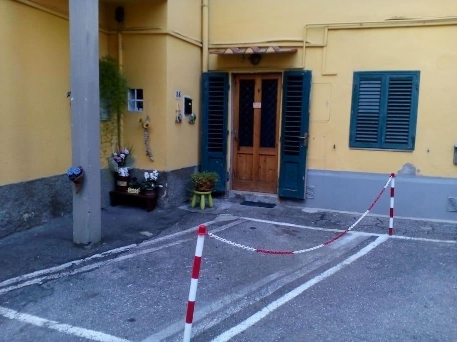 parking is in front of the door