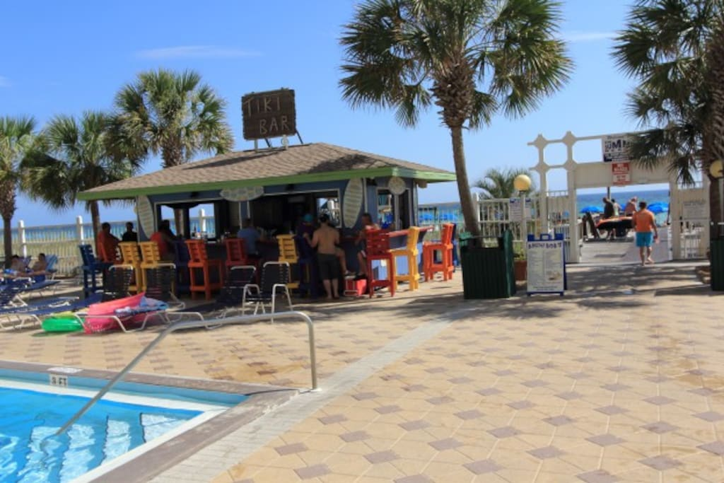 Poolside Tiki Bar on Beach