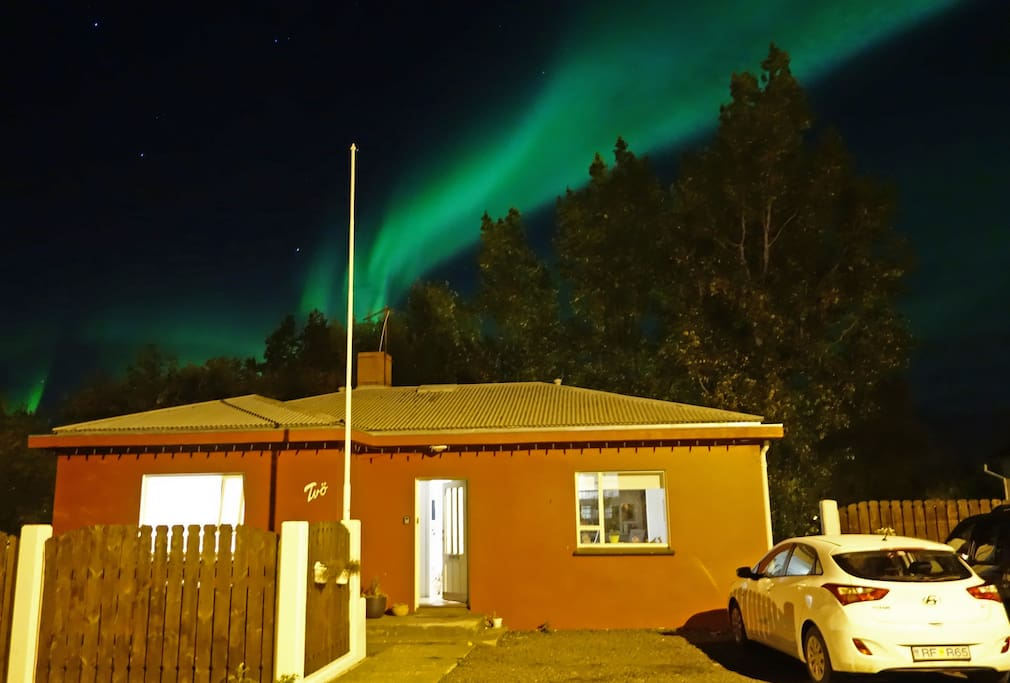If you're lucky, you can even see the Northern Lights from my doorstep.