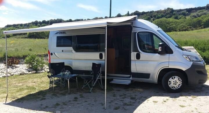 Wohnmobil auf Sardinien, alle km frei