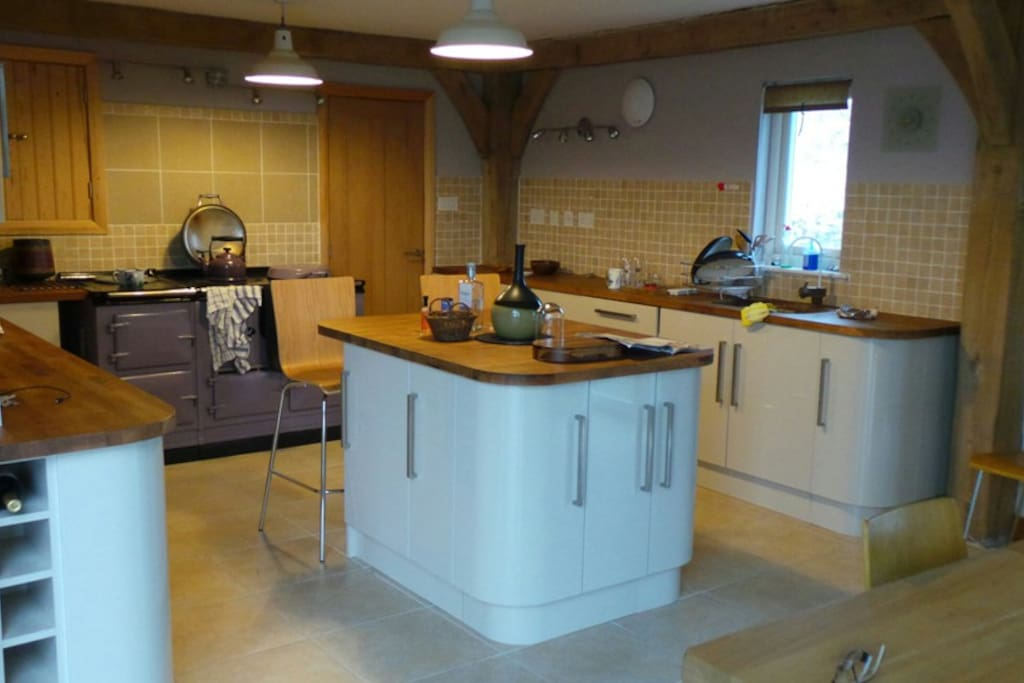 Kitchen with Electric Aga