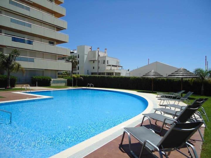 Luxury apartment in private condominium, with pool