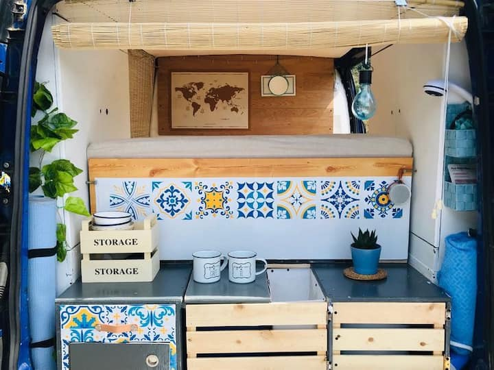 Blue Van para viajar con la casa a cuestas!