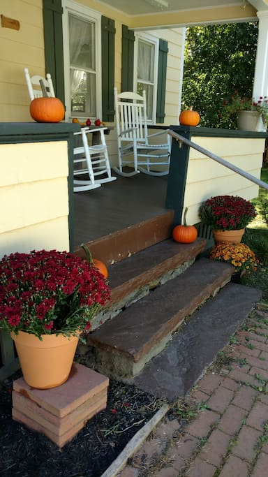 Front porch in October