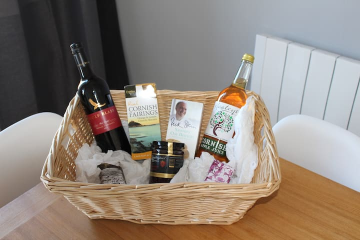 Welcome basket A welcome basket awaits you upon your arrival locally sourced where possible.